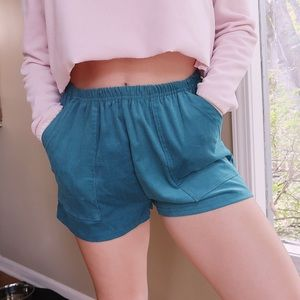 urban outfitters teal shorts!
